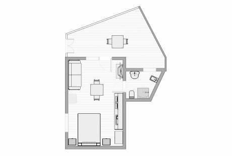 Viale Europa Einzimmerwohnung